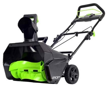 Аккумуляторный снегоуборщик Greenworks GD80SB 2600107 без АКБ и ЗУ