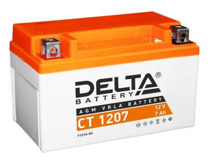 Аккумулятор автомобильный  Delta CT 1207 7 Ач