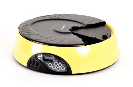 Автокормушка для кошек и собак Feed-Ex PF2, жк дисплей, с таймером, желтая, 2 л