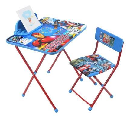 """Комплект детской мебели Ника Disney """"Мстители"""" с рисунком столешницы Железный человек"""
