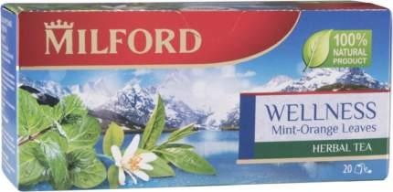 Напиток чайный Milford welness мята и апельсин 20 пакетиков