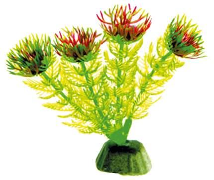 Искусственное растение для аквариума DEZZIE , зеленый, желтый, пластик,10см
