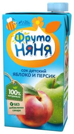 Сок ФрутоНяня Яблоко и персик с 3 лет 500 мл