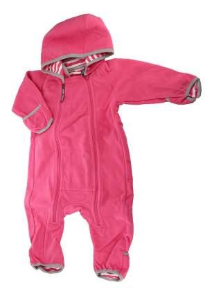 Комбинезон Merri Merini флисовый ярко-розовый р.68