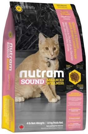 Сухой корм для котят Nutram Sound Balanced Wellness Kitten Food, курица, лосось, 0,4кг