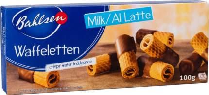 Вафельные трубочки Bahlsen в молочном шоколаде 100 г