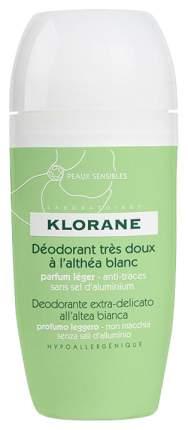 Дезодорант KLORANE Сверхмягкий с белым алтеем шариковый 40 мл