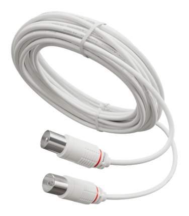 Кабель телевизионный Рэмо Удлинитель антенного кабеля 7,5 м Белый