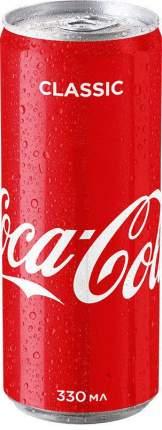 Напиток газированный Coca-Cola classic жестяная банка 0.33 л