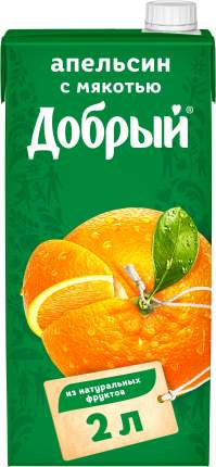 Нектар Добрый апельсин 2 л