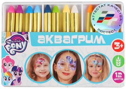 Краски для лица Multi Art My little pony 12026-MLP 12 цветов