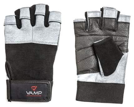 Перчатки для тяжелой атлетики и фитнеса VAMP 530, серые, XXL