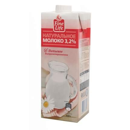 Молоко Fine Life питьевое ультрапастеризованное 3.2% 950 г