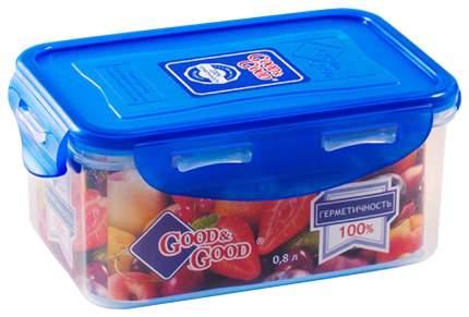 Емкость Good&Good, герметичная, 0,8л, прямоугольная, для хранения продуктов и СВЧ, 16х11см