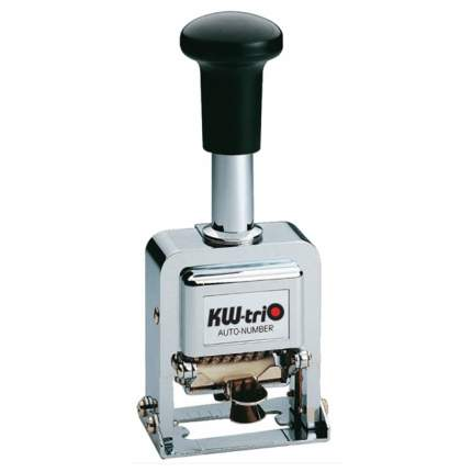 Нумератор автоматический KW-Trio 20800. 8 разрядов. Высота шрифта: 3,7 мм.
