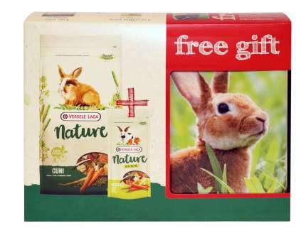 Корм для декоративных кроликов Versele-Laga Nature Cuni + лакомство + контейнер в подарок