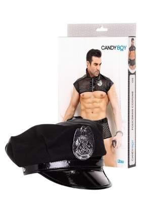 Костюм полицейского Candy Boy Rico (топ, боксеры, головной убор, наручники), черный, OS