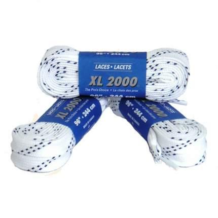 Шнурки для коньков Laces X914 белые, 2,44 м