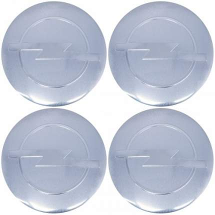 Наклейки на диски литые с логотипом автомобиля Опель 12050011 D-56 мм серебристые