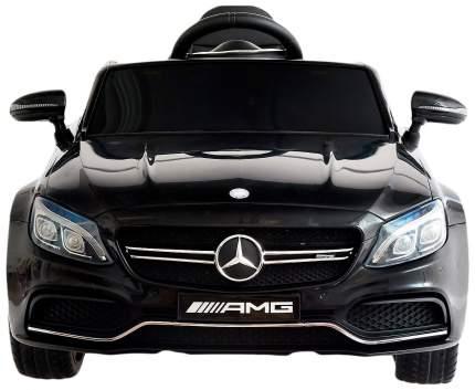 """Электромобиль """"MERCEDES-BENZ C63 S AMG"""", окраска черный, EVA колеса Sima-Land"""