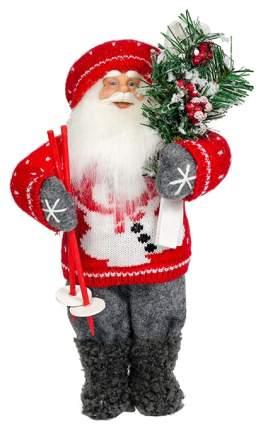 Фигурка новогодняя MaxiToys Дед Мороз с лыжами