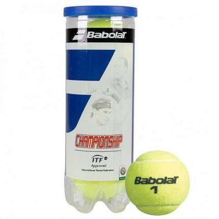 Мяч теннисный Babolat Championship 3B, желтый
