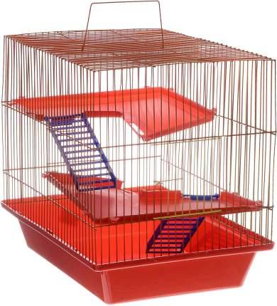 Клетка для грызунов ZooMark Гризли, 3-этажная, 41х30х35,5см