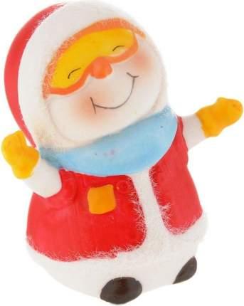"""Фигурка новогодняя снеговика """"Снеговик-лыжник"""", 8 см"""