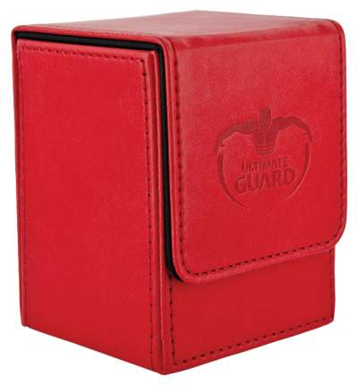 Коробочка Ultimate Guard под кожу на 100 карт, красная