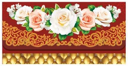 Открытка-конверт для денег (розы)