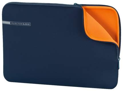 """Чехол для ноутбука 15.6"""" Hama Neoprene синий/оранжевый"""