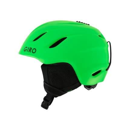 Горнолыжный шлем детский Giro Nine Jr 2018, зеленый, M