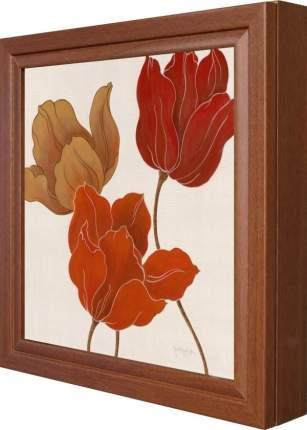 "Ключница ""Tava Studios - Austin's Tulips I"" Орех"