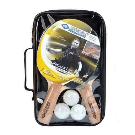Набор для настольного тенниса Donic Persson 500, 2 ракетки, 3 мяча