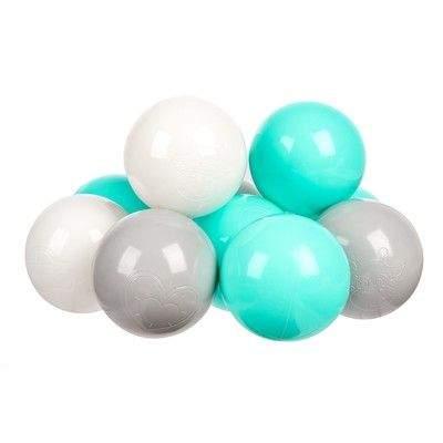 Комплект шариков Мятный бриз (100шт: мят, сер, и бел) для сухого бассейна
