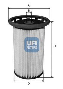 Фильтр топливный UFI 26.025.00