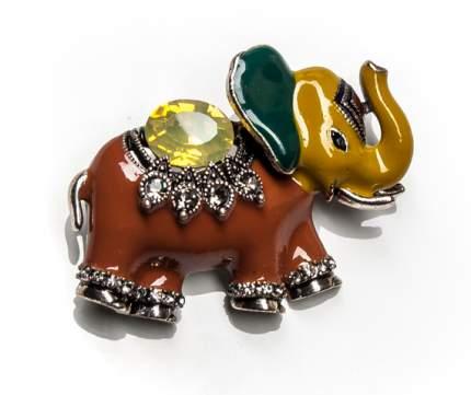 Брошь Moon Paris индийский слон с кристаллами и стразами (коричневый)