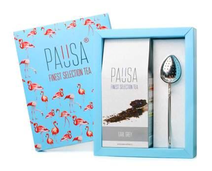 Набор Pausa flamingo чай черный с бергамотом и ложка-ситечко