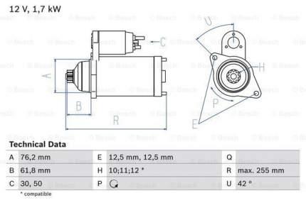 Стартер Bosch 0 986 020 260