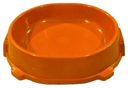 Одинарная миска для кошек и собак FAVORITE, пластик, оранжевый, 0.22 л