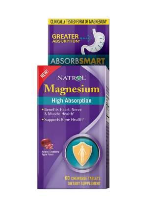 Магний Natrol Magnesium High Absorption 60 таблеток