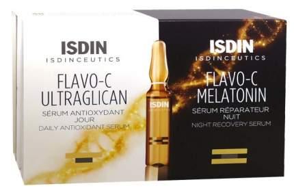 Набор косметики для лица ISDIN Flavo-C Melatonin + Ultraglican