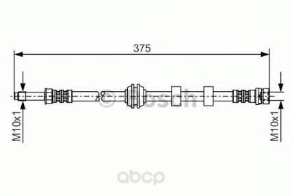 Шланг тормозной системы Bosch 1987476626 передний