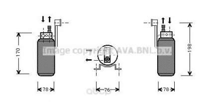 Радиатор кондиционера автомобильный Ava FDD296
