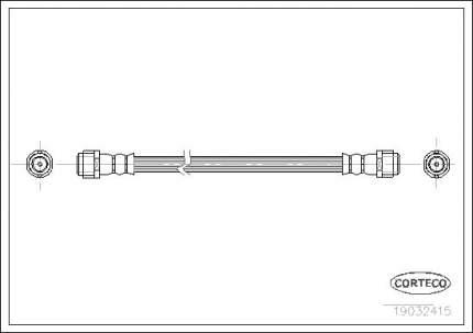 Шланг тормозной CORTECO 19032415