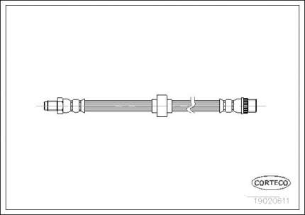 Шланг тормозной CORTECO 19020611
