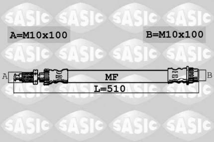 Шланг тормозной SASIC 6600043