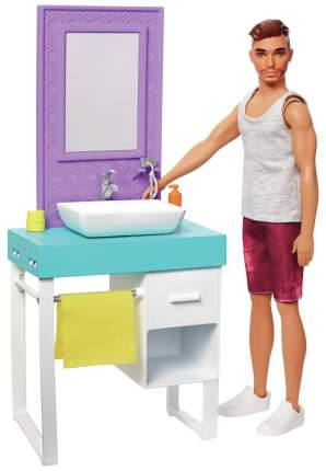 Кукла Mattel Barbie FYK53 Кен и набор мебели