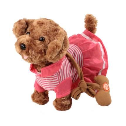 Мягкая игрушка Пушистые друзья Собачка интерактивная на мягком поводке JB500002