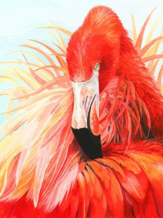 Картина по номерам на картоне Color Kit Королевский фламинго